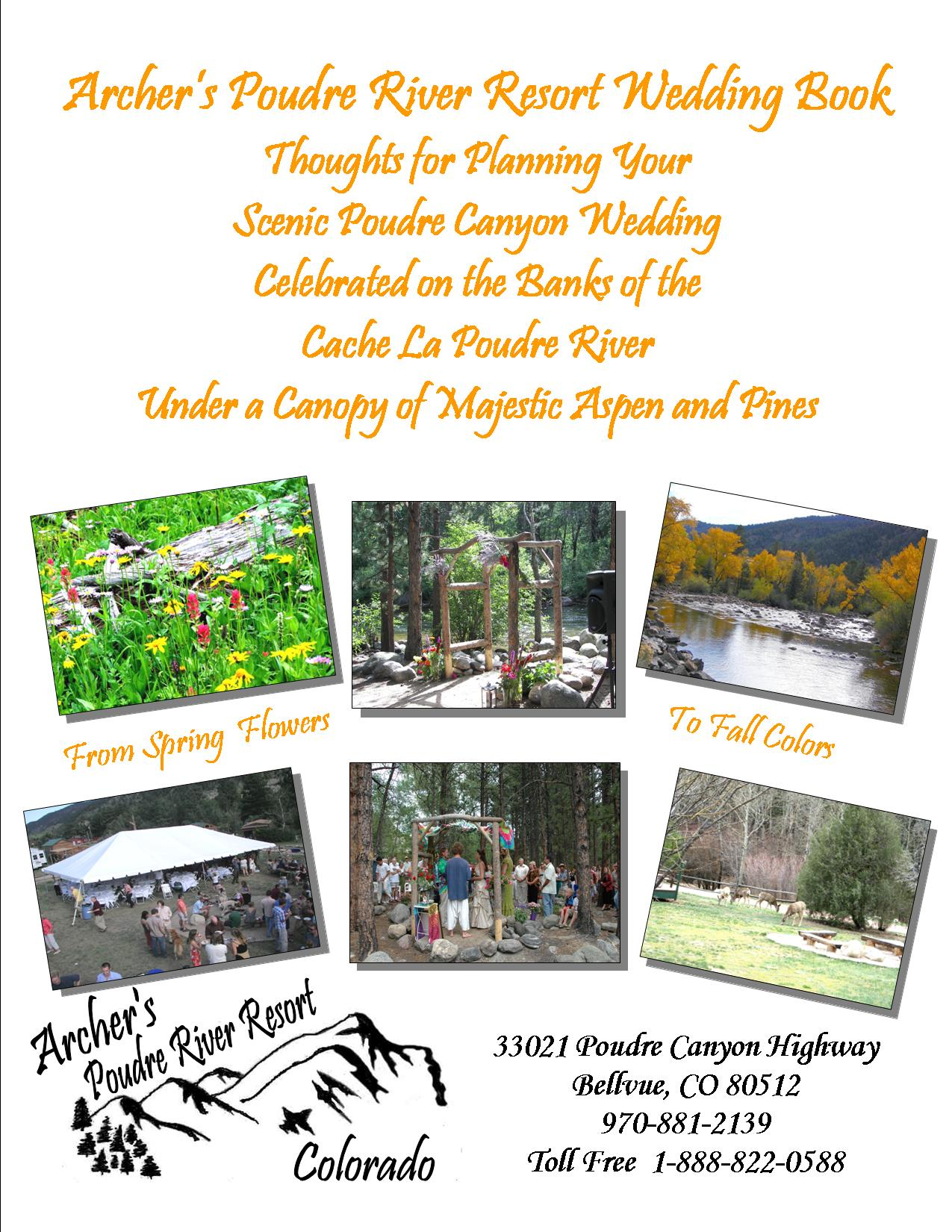 Archer's Poudre River Resort Wedding Book Cover